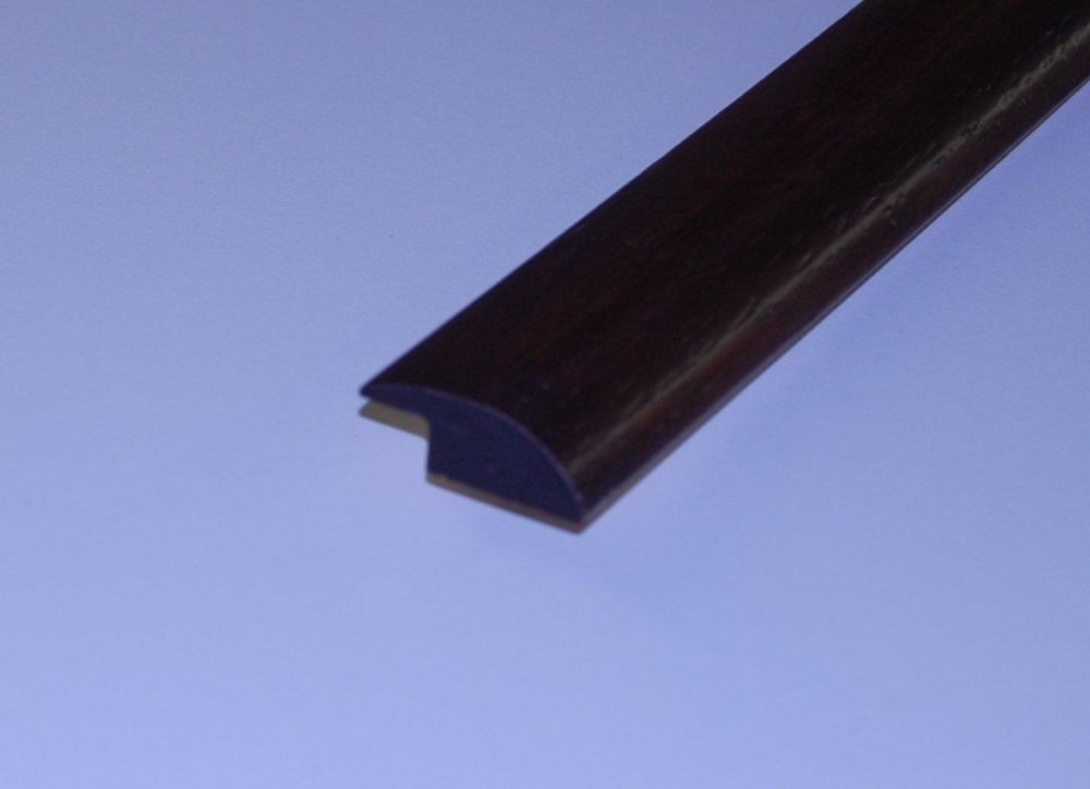 Hickory Leather Handscraped Thermo Treated Overlap Reducer - 78 Inch Lengths