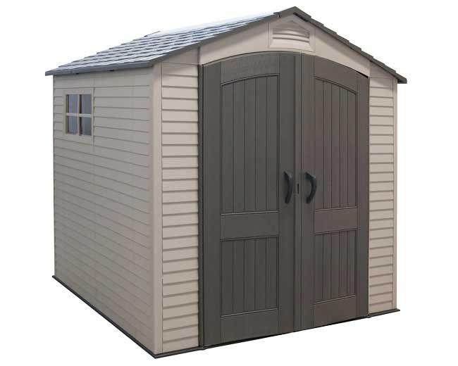 Lifetime 7x7 Garden Storage Shed w/ Two Windows