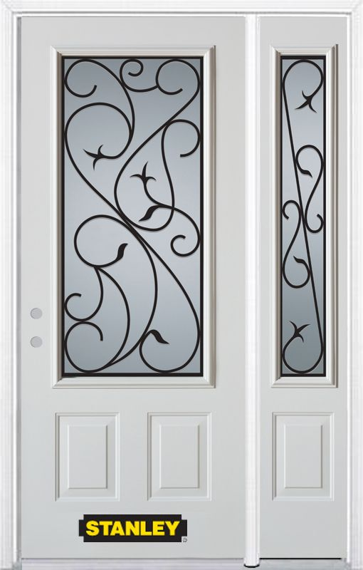Half Lite Vented 2 Panel Painted Steel Entry Door 9100S S 32 R Canada Discoun