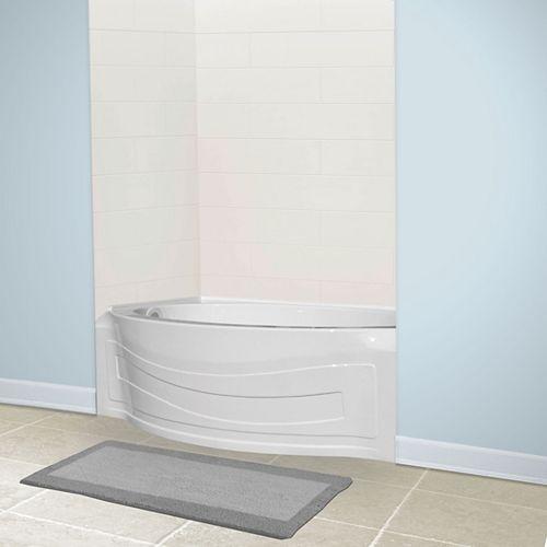American Standard Jasper Alcove Oval Acrylic Left-Hand Bathtub in White