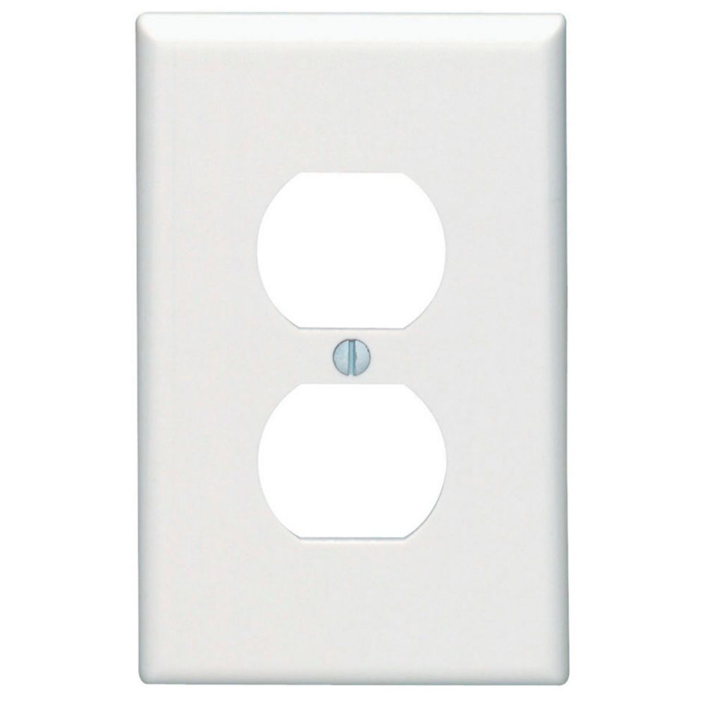 1-Gang Midway Nylon Duplex Receptacle Wallplate, in White 00PJ8-R62 in Canada