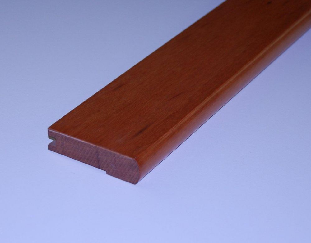 Tigerwood 3/4Inch Thick Stair Nosing - 78 Inch Lengths