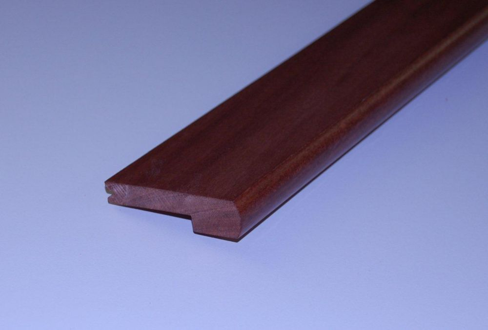 Cabreuva 1/2Inch Thick Stair Nosing - 78 Inch Lengths