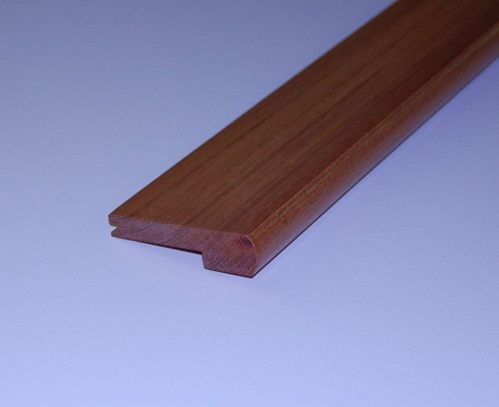 Jatoba 1/2Inch Thick Stair Nosing - 78 Inch Lengths