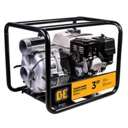 BE Pressure 3-inch 37 PSI Trash Pump with 3.1 L Fuel Tank