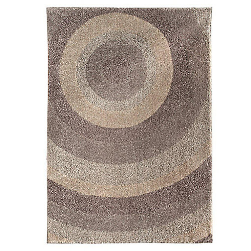 Ringmaster Grey 5 ft. 3-inch x 7 ft. 6-inch Indoor Contemporary Rectangular Area Rug