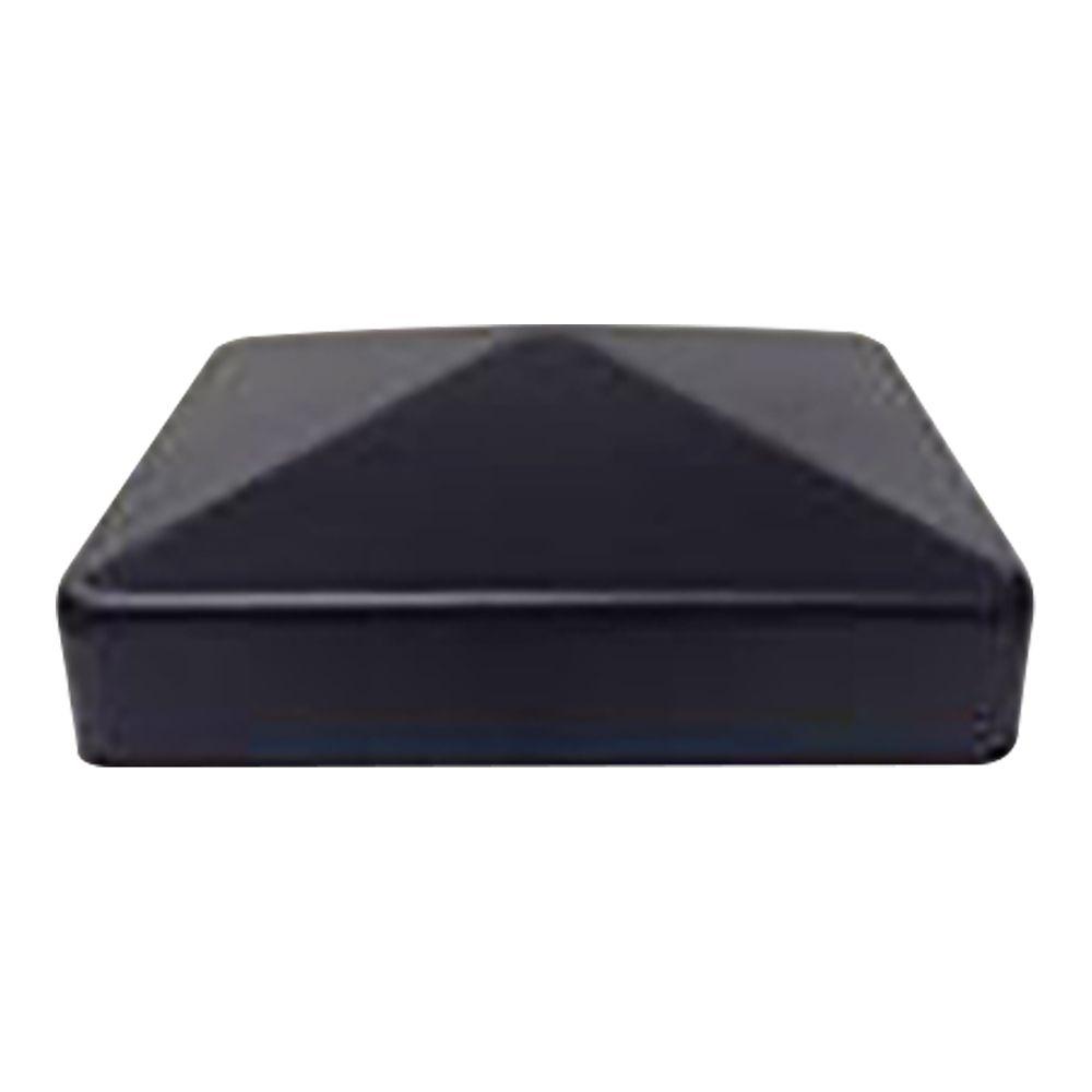 6x6 Black Galvanized Metal Post Caps