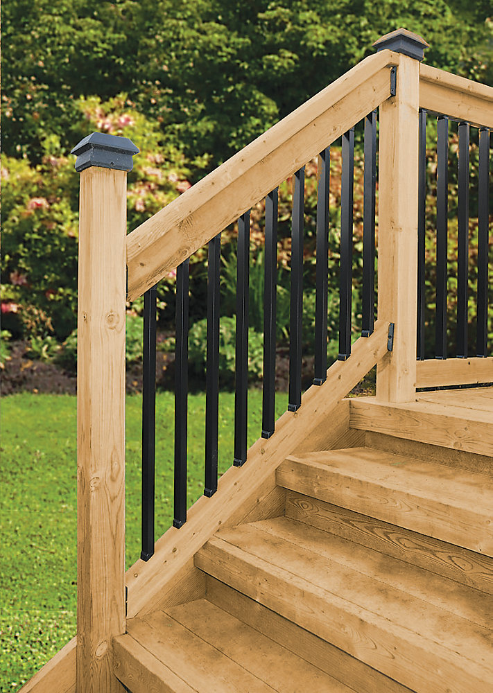 Veranda Stair Rail Kit Rectangular Balusters The Home