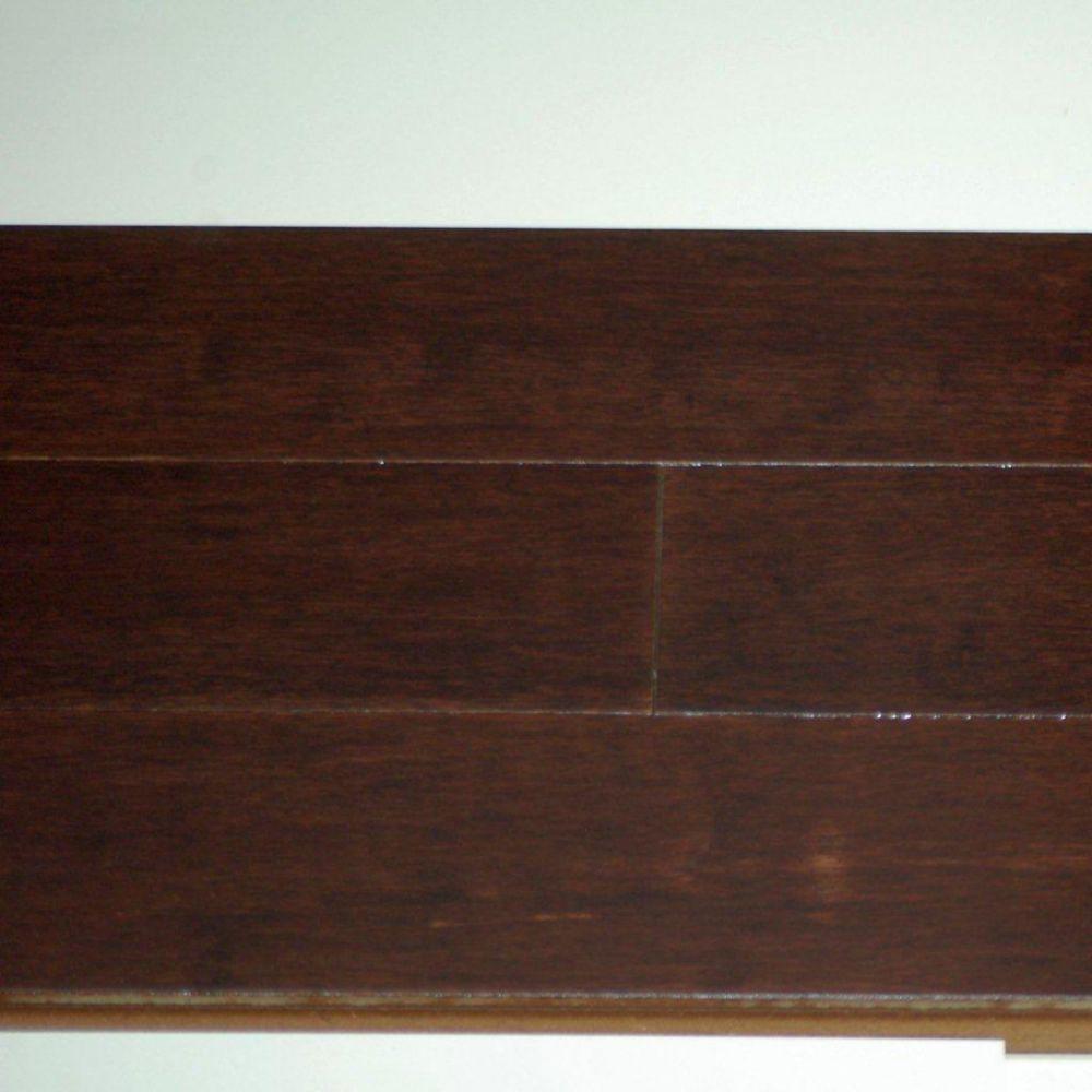 """Plancher Bambou Ultimate HDF 12mm x 3-3/4"""" UniClic - Couleur Espresso (20.17  Pi. carré par caiss..."""