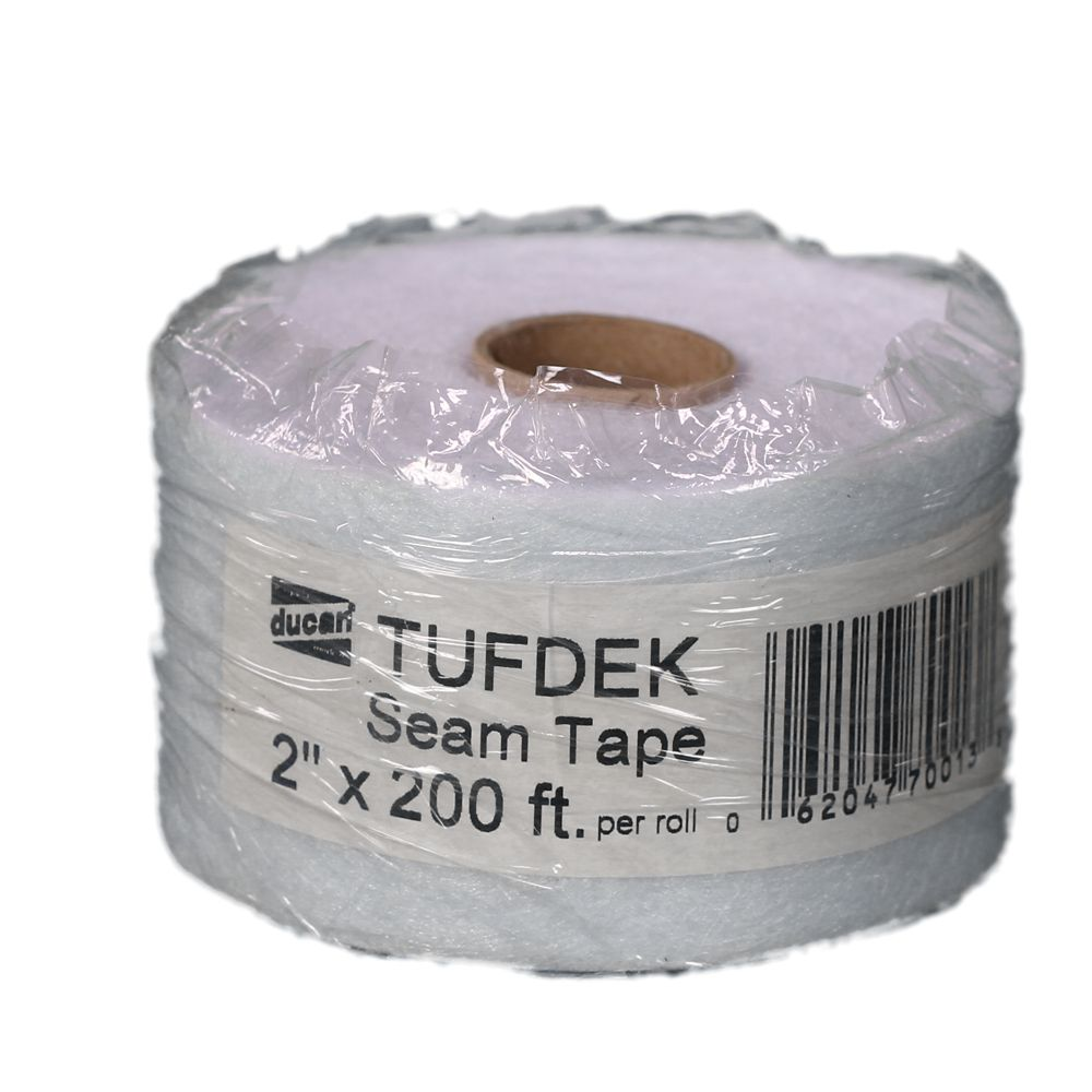 Tufdek Seam Tape, used with the Tufdek Filler to provide a bridge on the seams and for the transi...