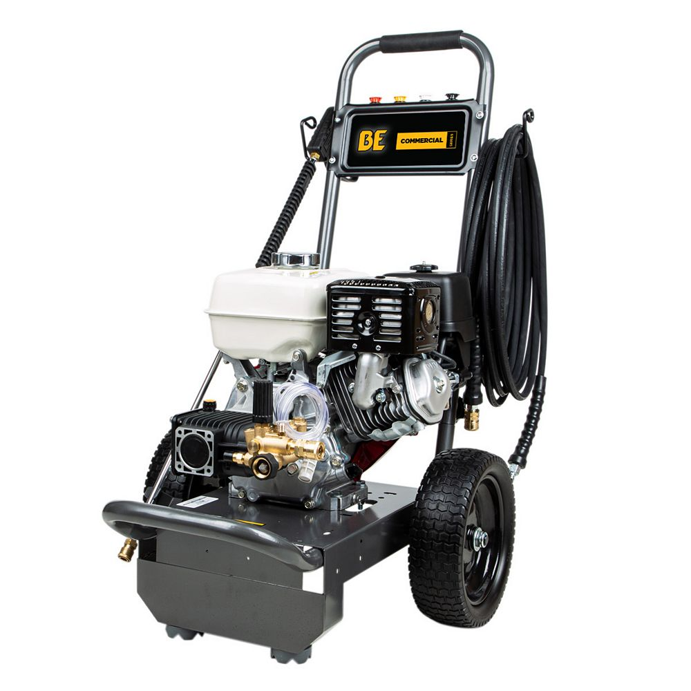 BE Power Equipment 3800 PSI Gas Pressure Washer Powered By Honda GX270 Engine
