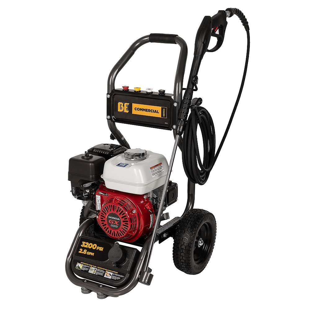 BE Power Equipment BE Power Equipment Commercial 3,200 PSI 2.8 GPM 200cc Honda GX200 Engine Gas Pressure Washer