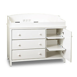 South Shore Cuddly Changing Table Pure White