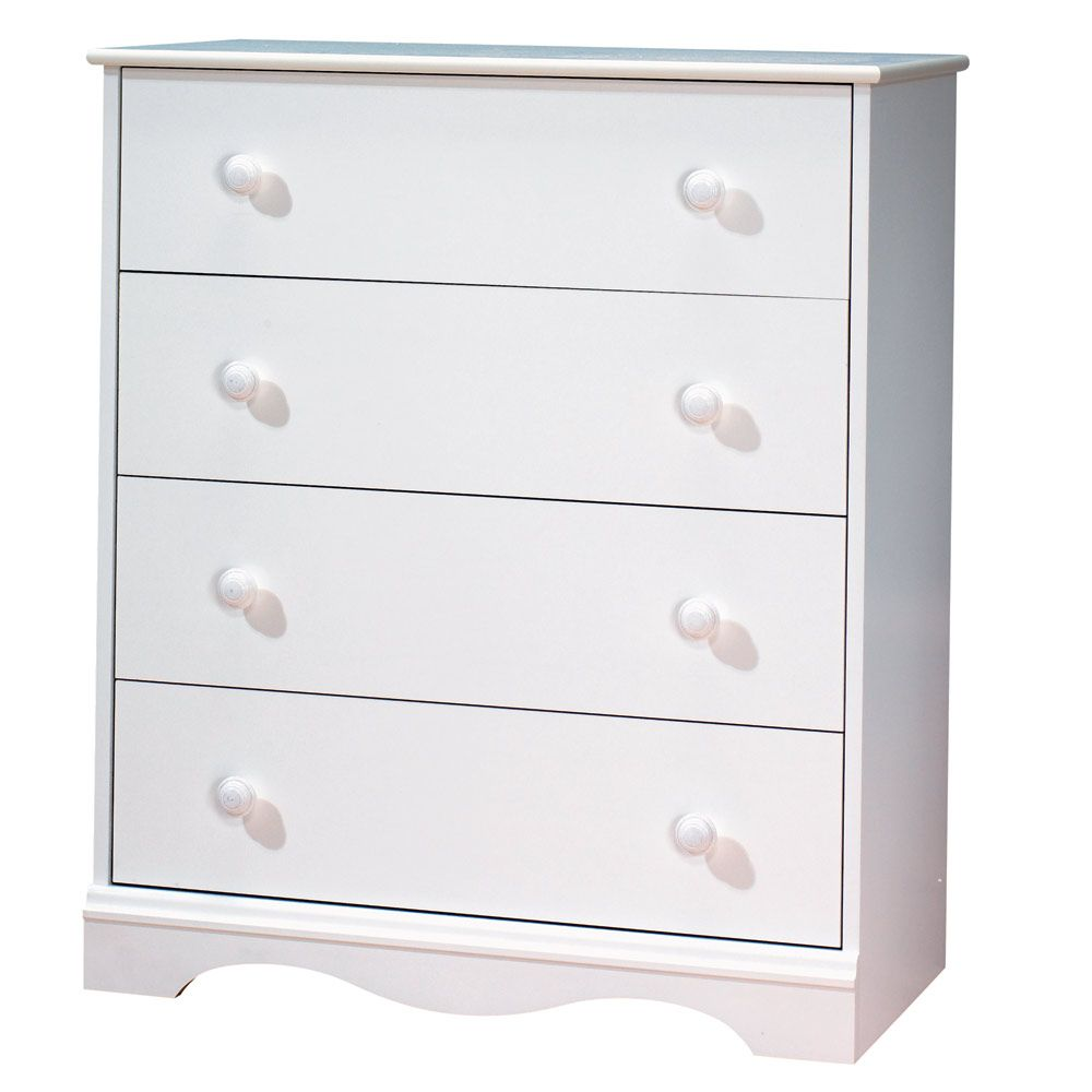 Tender Dreams 4-Drawer Chest Pure White