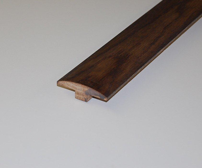 Oak Leather T-Mould - 78 Inch Lengths