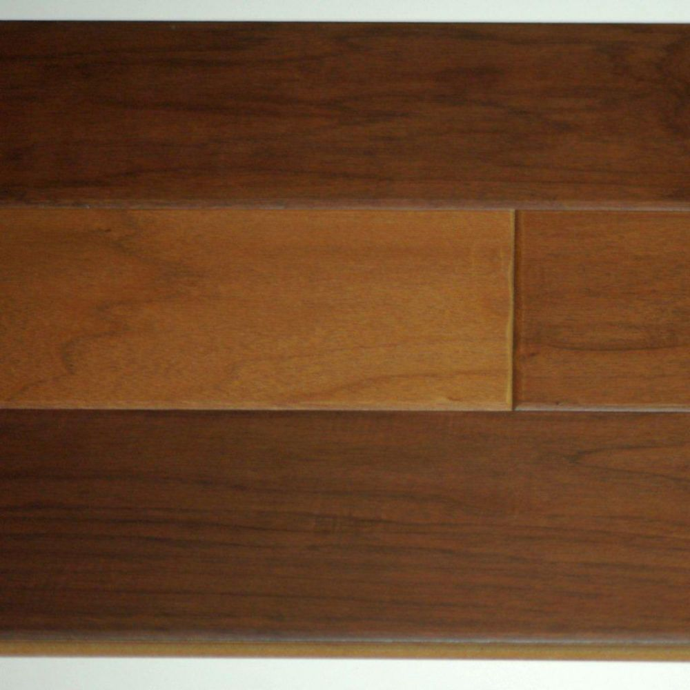 Hardwood Flooring Mountain Walnut 3/8 x 5 Handscraped  - Natural Colour (25.6  Sq.Ft./Case)