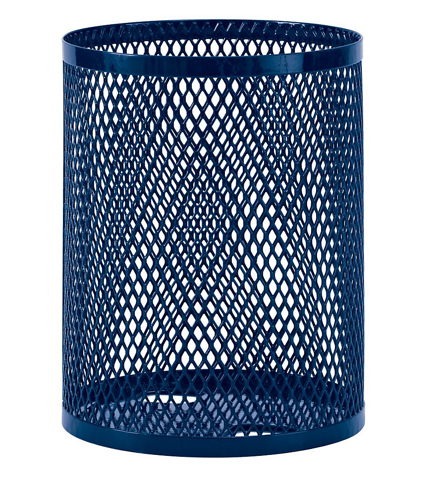 32 Gal. Commercial Trash Receptacle in Blue