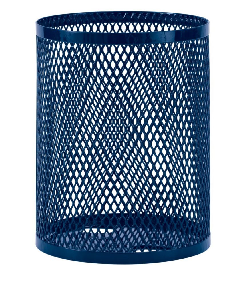32 Gallon Commercial Trash Receptacle- Blue