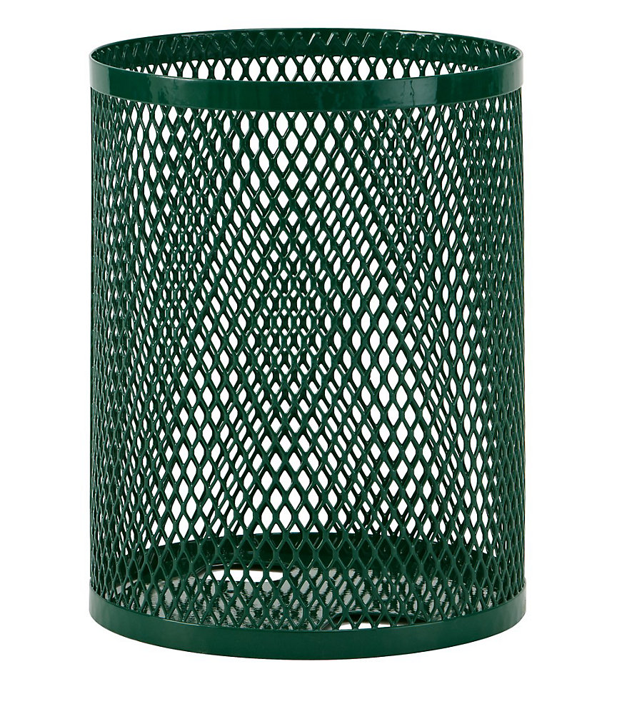 32 Gal. Commercial Trash Receptacle in Green
