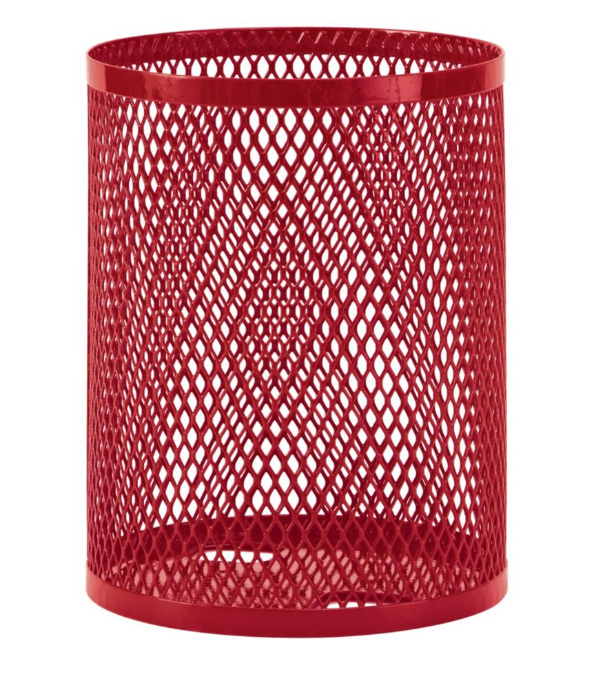 32 Gallon CommercialTrash Receptacle- Red