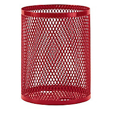 32 Gal. Commercial Trash Receptacle in Red