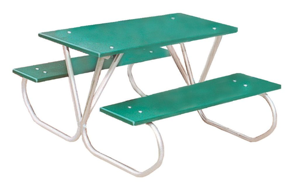 3 ft Commercial Plastic Preschool Table- Green