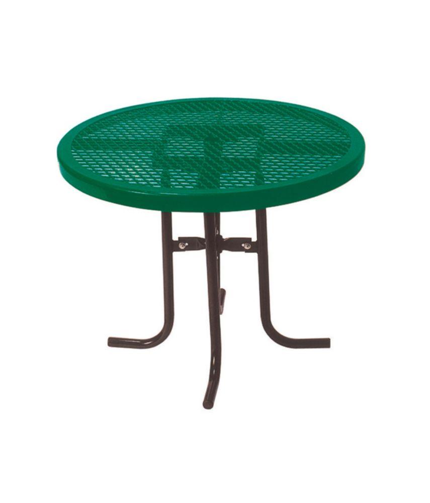 Table ronde de 36po- Vert
