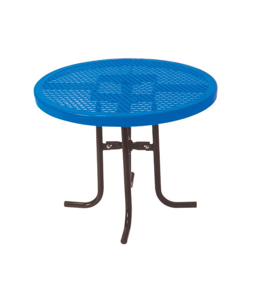 36-inch Commercial Round Table in Blue