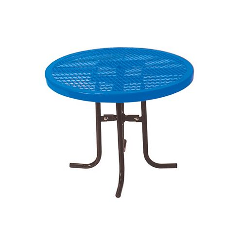 UltraSite 36-inch Commercial Round Table in Blue