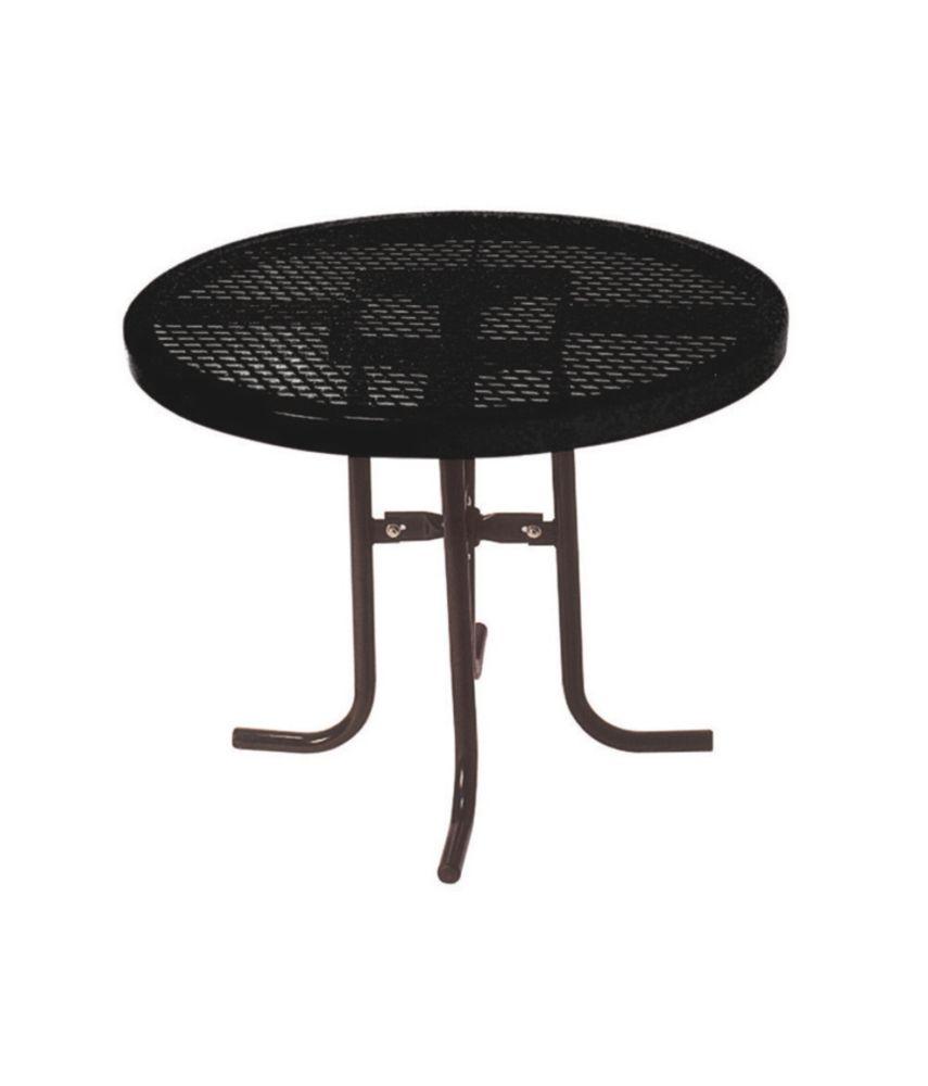 Table ronde de 36po- Noir