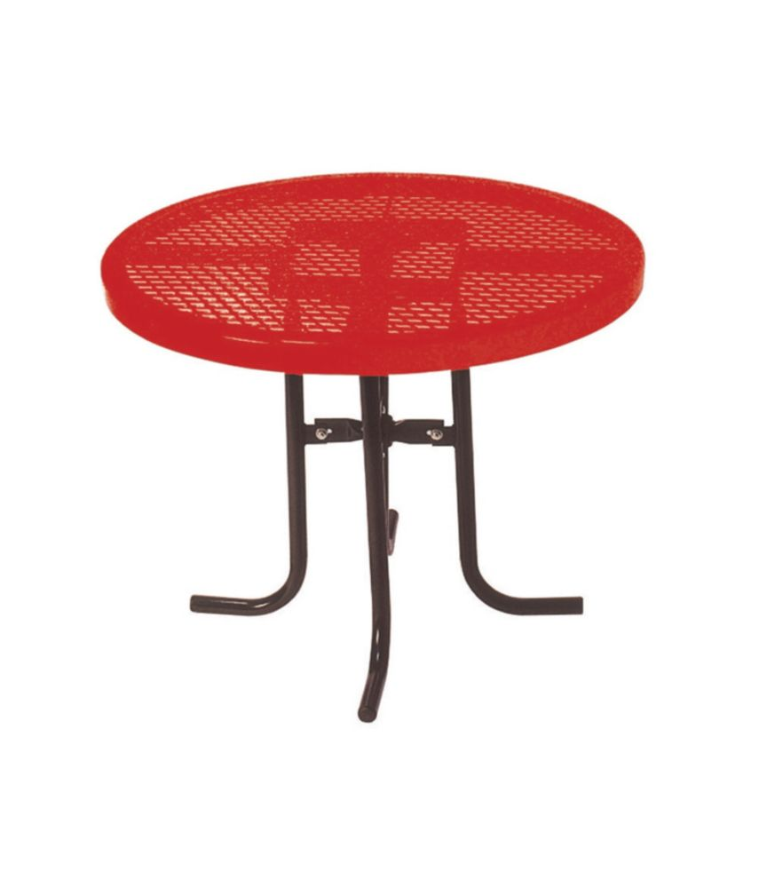 36 inch Commercial Round Table- Red PBK361L-RDVR Canada Discount