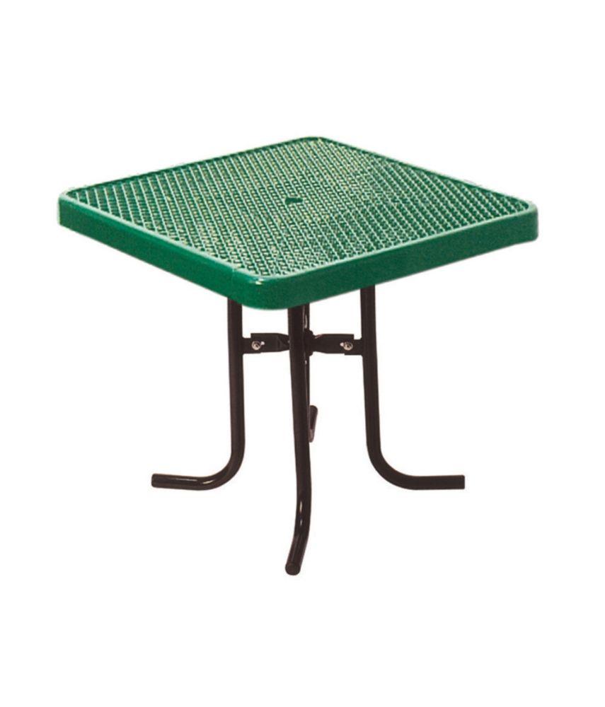 Table carré de 36po- Vert