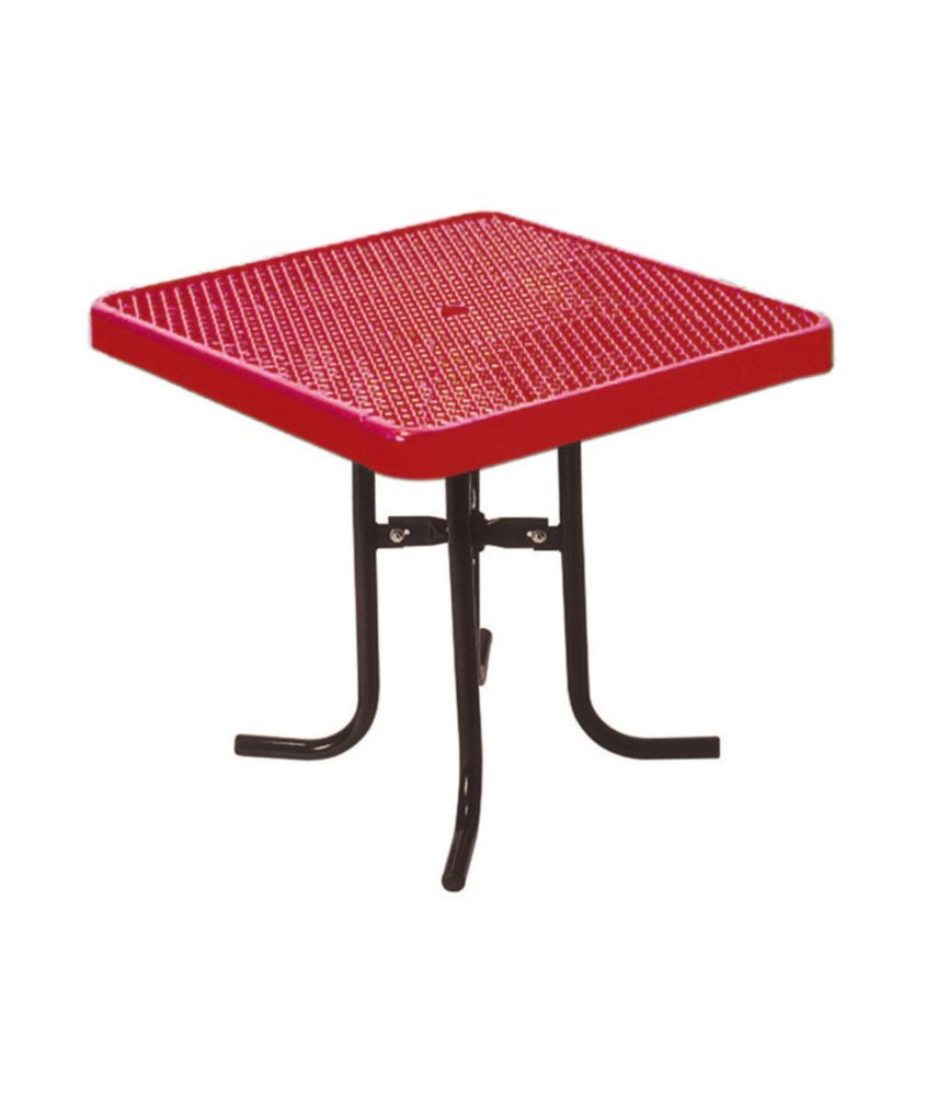36 inch Commercial Square Table- Red