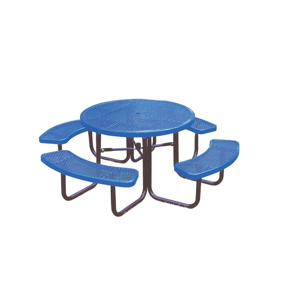UltraSite 46-inch Commercial Round Table in Blue