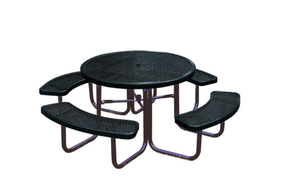 46 inch Commercial Round Table- Black