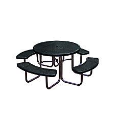 Table ronde de 46po- Noir