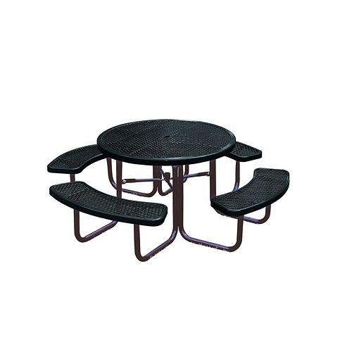 UltraSite 46-inch Commercial Round Table in Black