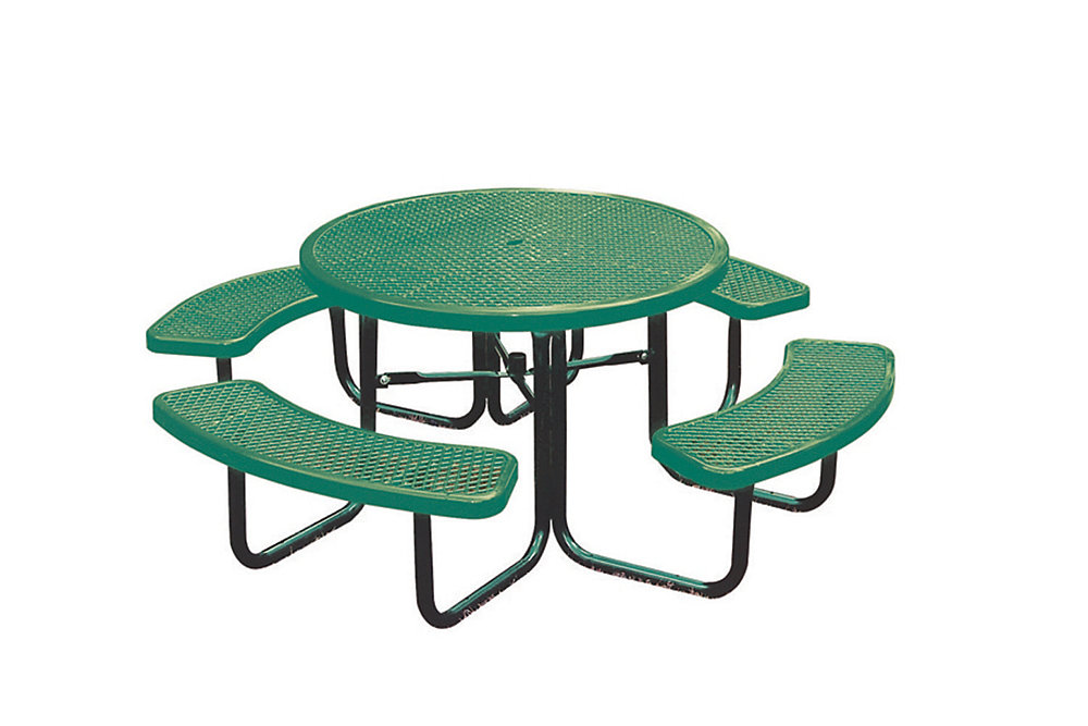 Green Round Table.46 Inch Commercial Round Table In Green