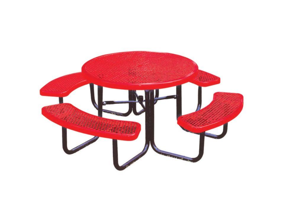 Table ronde de 46po- Rouge