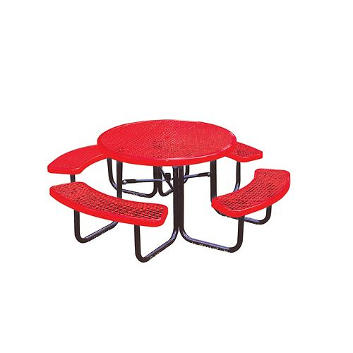 UltraSite 46-inch Commercial Round Table in Red