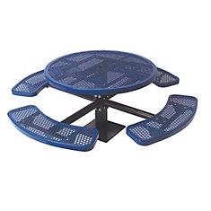 Table ronde de 46po, pouvant être installé sur une surface- Bleu
