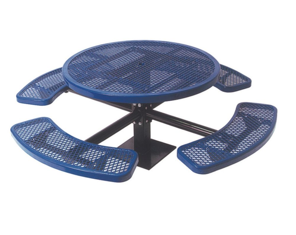 46 inch Commercial Round Table, Surface Mount- Blue