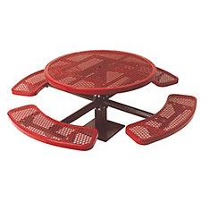 Table ronde de 46po, pouvant être installé sur une surface- Rouge