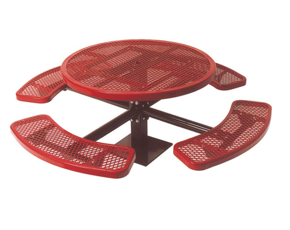46 inch Commercial Round Table, Surface Mount- Red