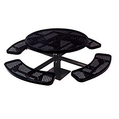 Table ronde de 46po, pouvant être installé sur une surface- Noir