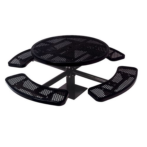 UltraSite 46-inch Commercial Round Surface-Mount Table in Black