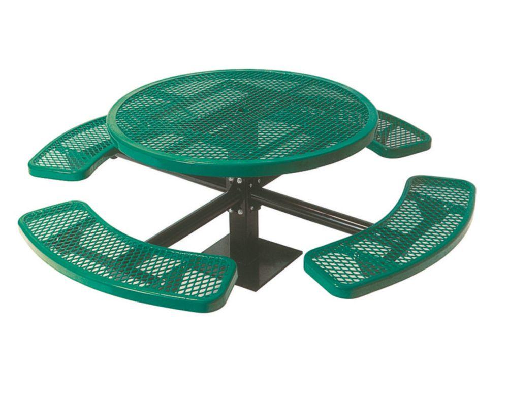 Table ronde de 46po, pouvant être installé sur une surface- Vert