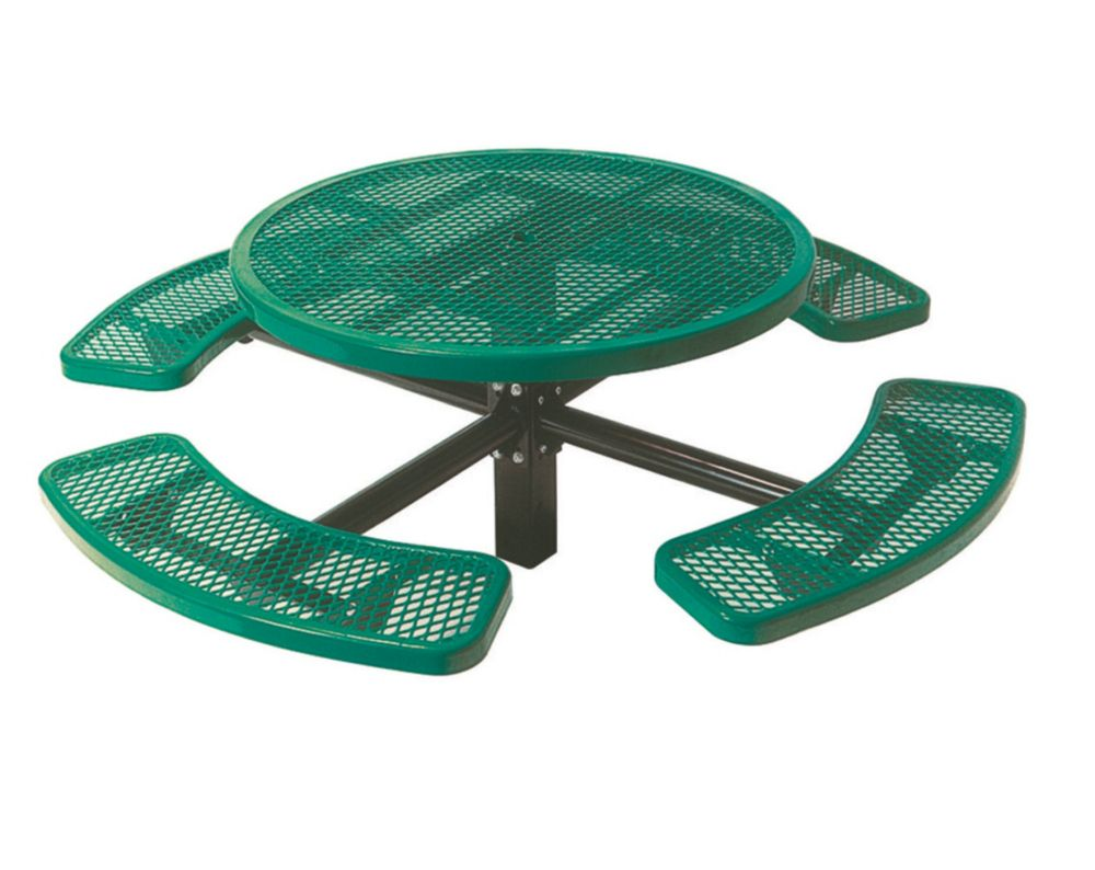 46 inch Commercial Round Table, In Ground- Green