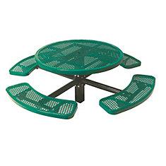 Table ronde de 46po, pouvant être ancré dans le sol- Vert