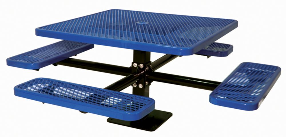 46 inch Commercial Square Table, Surface Mount- Blue PBK338SM-VB Canada Discount